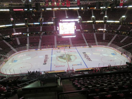 Canadian Tire Centre: set up for hockey