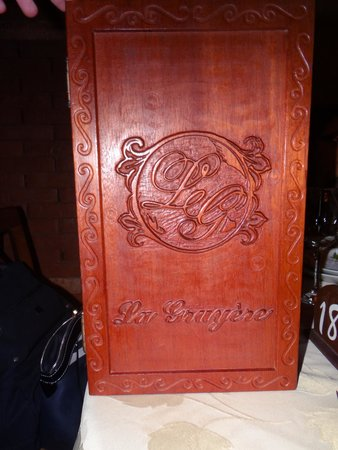 La Gruyere Restaurant : Menu