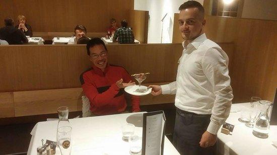 Design Hotel Tyrol: My man Klinton getting me yet another dessert