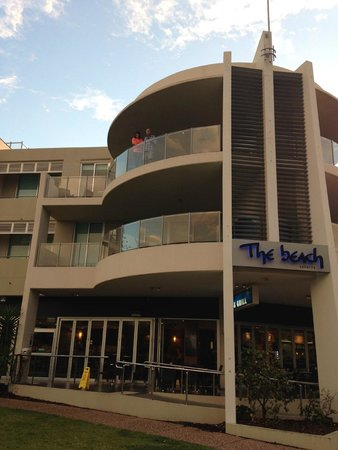 The Beach Resort: Looking back at room 203 from beach