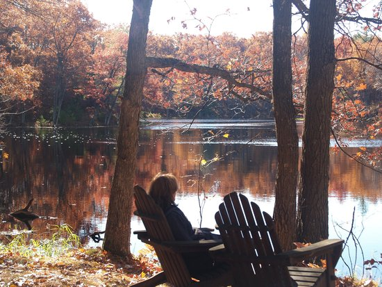Canoe Bay: Enjoying a crisp fall morning in WI