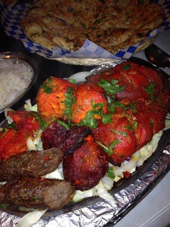 Taj Palace: Mixed grill fills!