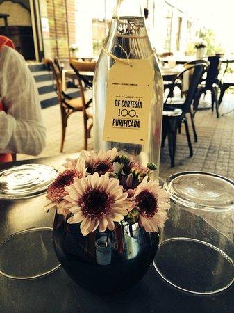 Franco - Cocina Urbana: Complimentary water.