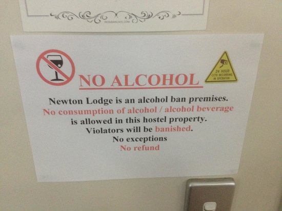 Newton Lodge: Far too many rules for a backpackers hostel...