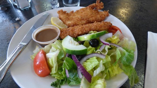 Seabolts Smokehouse: cod plus salad