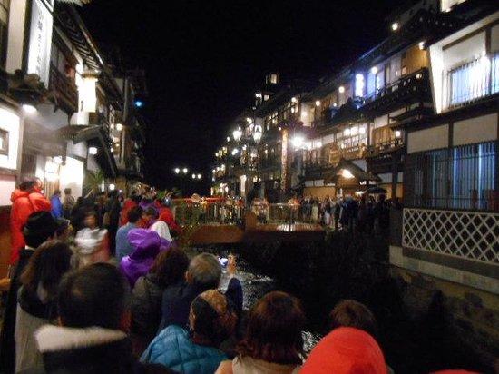 銀山温泉 旅館 古山閣, 映画千と千尋の神隠しのような夜