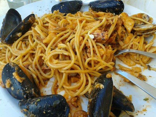 Enchante: Pasta Marinara over cooked