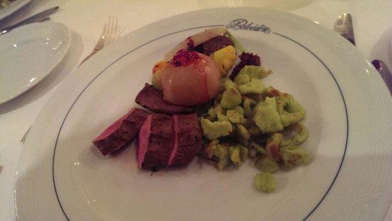Belvedere Strandhotel & Restaurant: Dinner