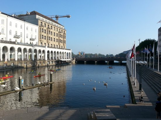 Hambourg, Allemagne : lago aussenalster
