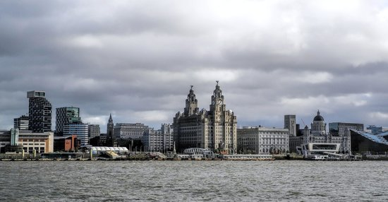 Crowne Plaza  Liverpool City Centre: Pier Head from the deck of the Royal Iris