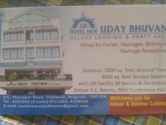 Hotel New Uday Bhavan (Belgaum, Karnataka) - Lodge Reviews ...