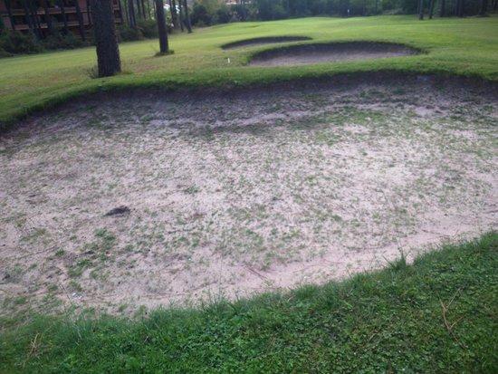 Clube de Campo da Aroeira: A nice grass/sand bunker!!!