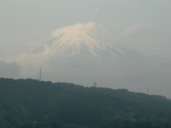 Michi-no-Eki Fujikawarakuza: 富士山を眺めながら