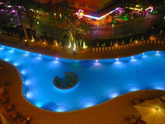 Sol Guadalupe by Melia: pool view night time