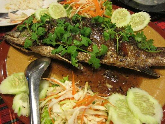 Krua Kritsana : 魚料理(スナッパー?)
