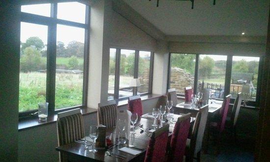 The Fox & Goose Inn: Restaurant top view as taken from Orangery room doors
