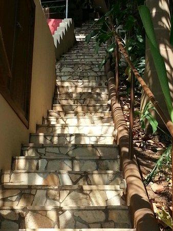 Gavea Tropical Boutique Hotel: Amostra dos muitos degraus de acesso ao quarto 7