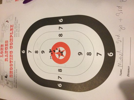 Lone Ranges Shooting Complex: Good grouping for an Oldie!