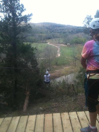 Hardy, AR: Zipline across the Spring River