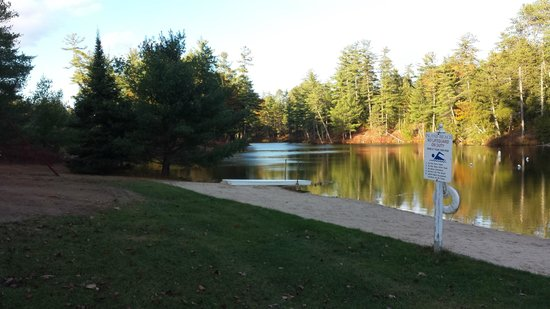 Madison, Nueva Hampshire: The beach area on the pond