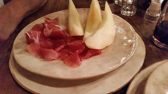 La Cantina: melon and prosciutto