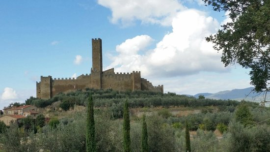 Casolare Il Condottiero : Castle of Montecchio Vesponi as seen from the house
