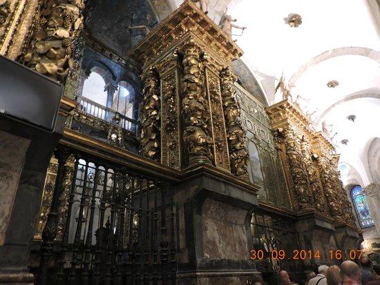 Interior of church picture of cathedral of santiago de - Interior santiago de compostela ...
