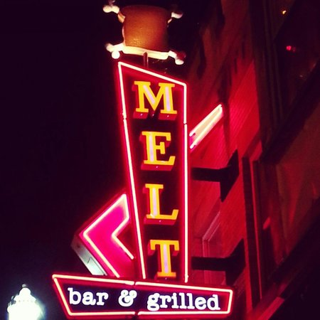 Melt Bar and Grilled: The entrance sign