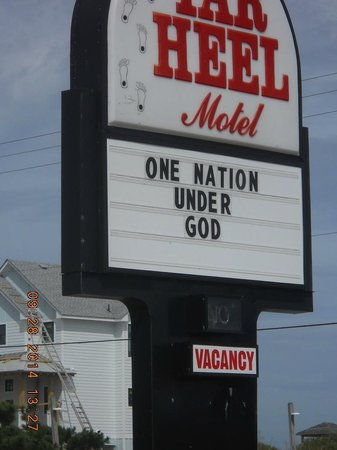 Tar Heel Motel: I liked this sign
