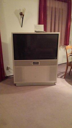 Landhotel Hühnerhof: The HUGE rear projection TV
