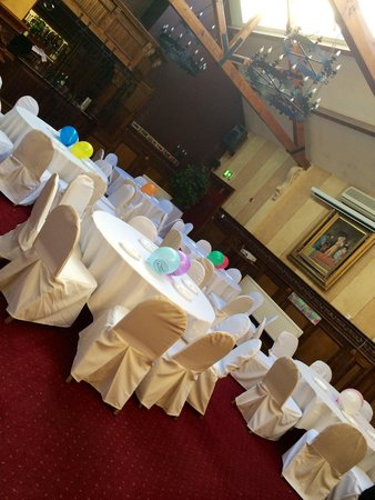 Tables set up for engagement party in function room - Picture of ...