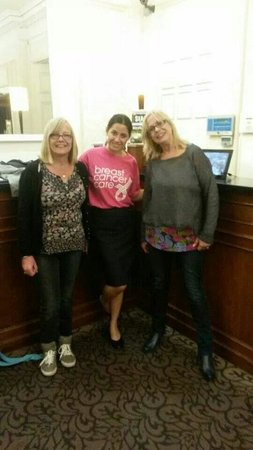 Mercure Brighton Seafront Hotel: Shelley jane and Sandra Fisher with Carlota.  Supporting breast cancer care.