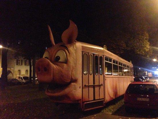 Schweine-Museum: Pig train