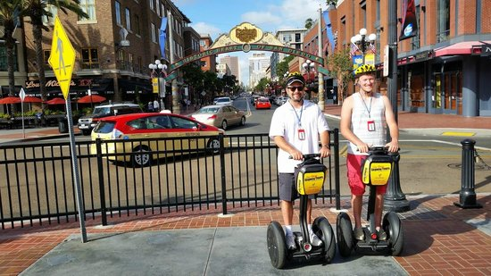 San Diego Segway Tours by Wheel Fun Rentals: In front of the Gas Lamp District