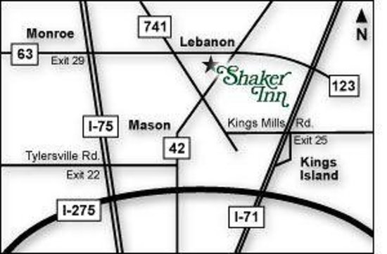 The Shaker Inn: Local Map