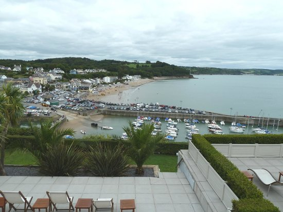 St Brides Spa Hotel : View over Saundersfoot from the dinning room
