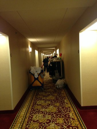 Hartford Marriott Farmington : Here is where I am expected to weave through the carts on check in