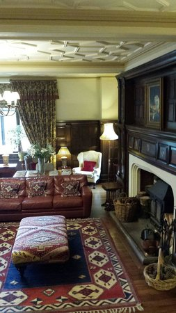 Penmaenuchaf Hall: The drawing room.