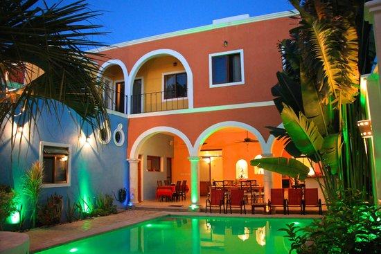 Merida Santiago hotel boutique : Innenhof