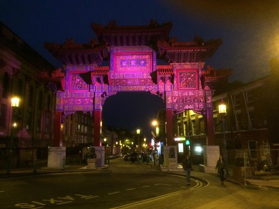 Chinatown: Night time Chinese Arch