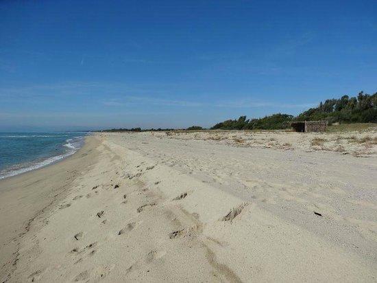 Agriturismo La Casa di Botro: private beach westwards