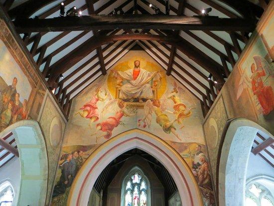 Berwick, UK: Interior wall painting