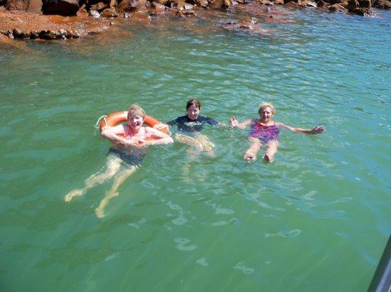 Santorini Sea Trips Anemos: Warm springs swim