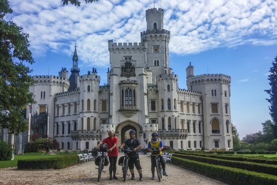 Ave Bicycle Tours - Day Tours: In front of hluboka Castle