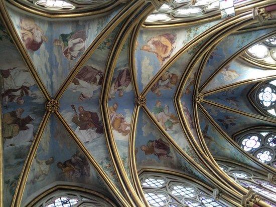 Abbaye de Chaalis: Plafond de la chapelle