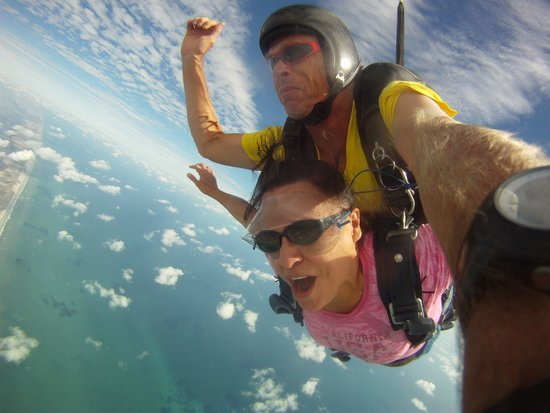 Skydive South Padre Island: Over South Padre