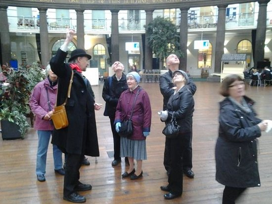 Discover Buxton Tours: In side the Dome demonstrating the echos.