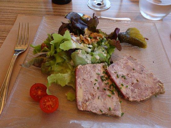 Restaurant de l'Abbaye : Pork and pork liver terrine.