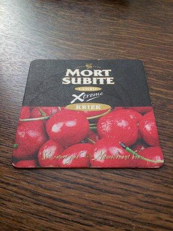 La Mort Subite: beer mat