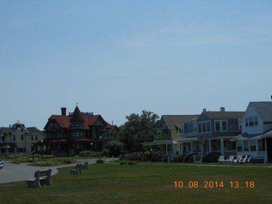 Ocean Park: vista de las tipicas casas desde el parque